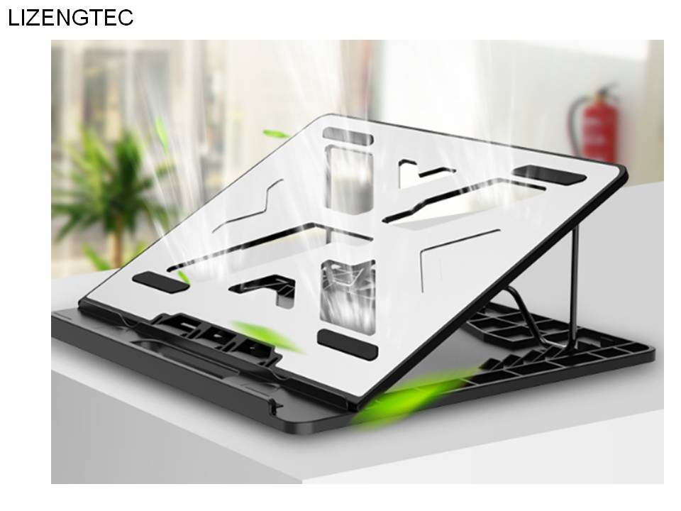 LIZENGTEC Aluminum 6 Heights Adjustable Laptop Stand With Heat Dissipation 4