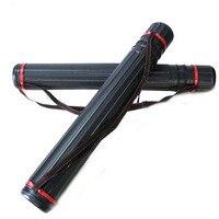 1pc Archery Arrow Quiver Hunting Shoulder Adjustable Telescopic Holder Black Tube