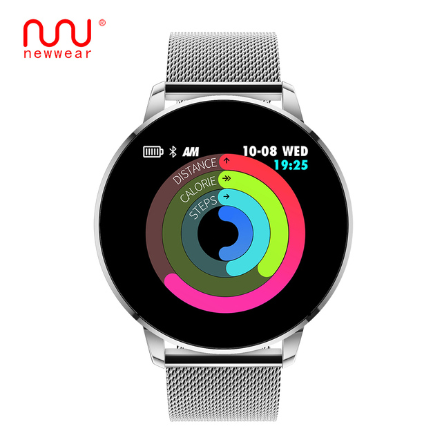 NEWWEAR Q8 Advanced 1.3 inch color screen fitness tracker smart watch heart rate monitor smartwatch men fashion