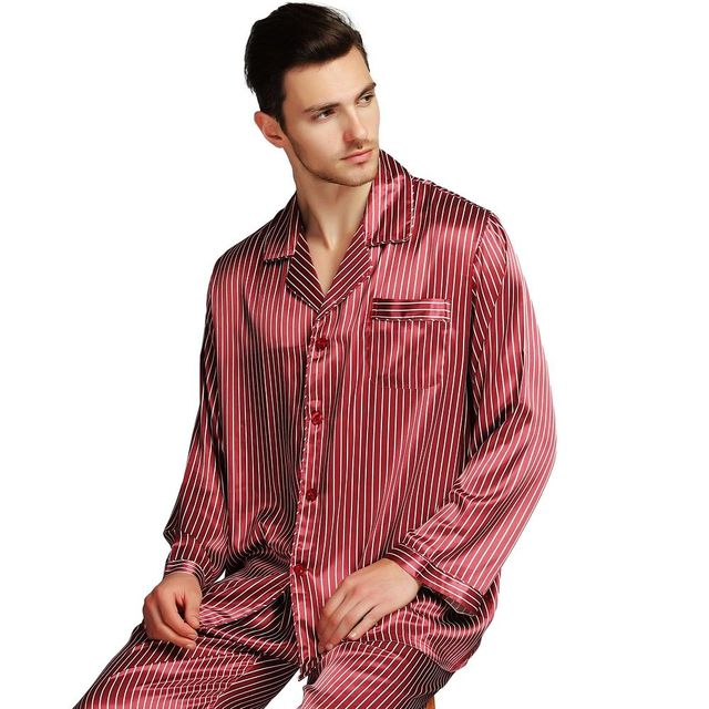 メンズシルクサテンパジャマパジャマ PJS パジャマセット部屋着 U.S.M 、 L 、 XL 、 XXL 、 3XL 、 4XL