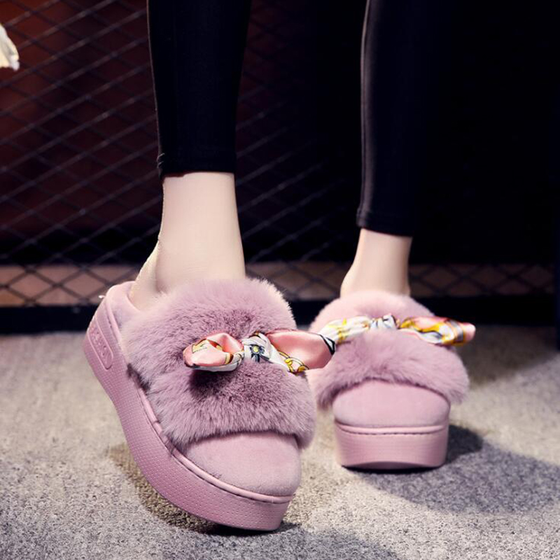 Zapatos Animados light Estilo Sh147 Interior Fondo Felpa Grueso Negro Purple Moda Algodón gris Casa Zapatillas Dibujos Mujer 2019 Japonés De Red leather púrpura IzCqww1
