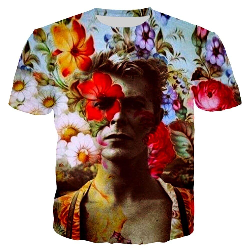 2019 Summer Mens Hip Hop   T  -  shirt   zlkoe David Bowie 3d Print   T     shirt   Men/Women Short Sleeve Tees O-neck   T  -  shirts   Funny Tops S-5XL