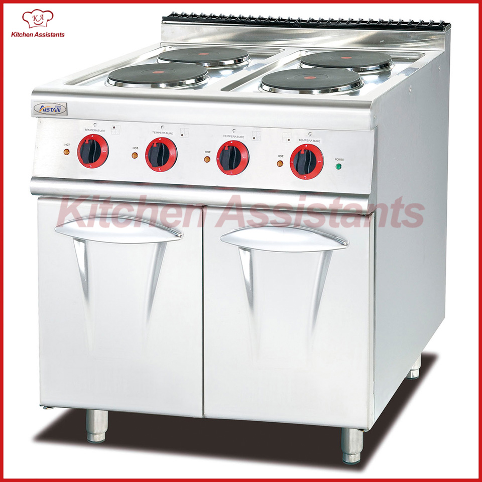 EH887C electric range with 4 hot plate with cabinet gh987 gas range with 4 burner with cabinet