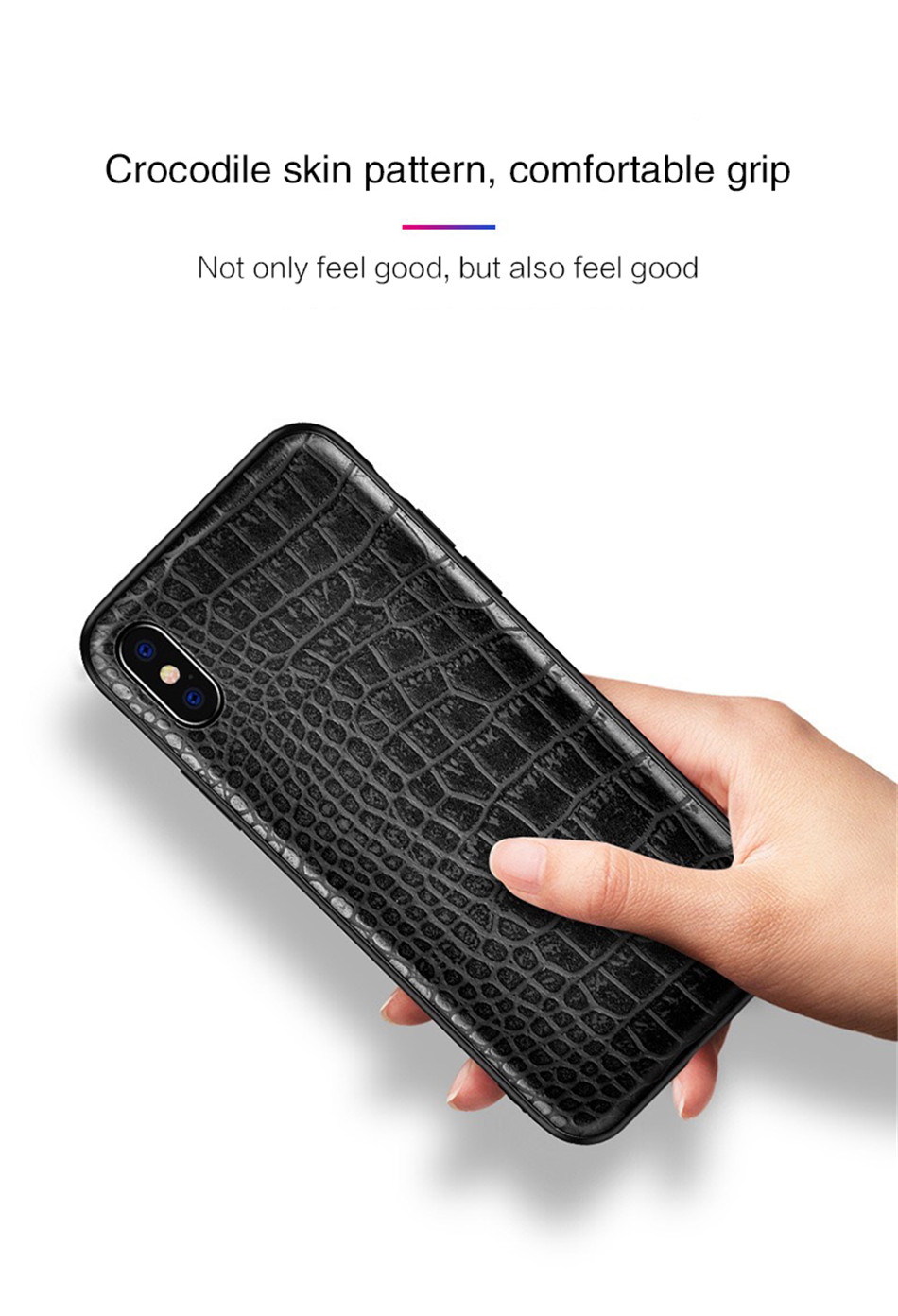 Retro Vintage Phone Bag Case For Iphone X 6 6s 7 7s 8 Plus Crocodile Snake Skin Pattern Soft Protective Cover Shell For iphoneX (7)