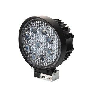 Image 2 - 2Pcs 27W LED Work Light 12V IP67 Spot Flood Fog Light Off Road ATV Tractor Train Bus Boat ATV UTV Work Light
