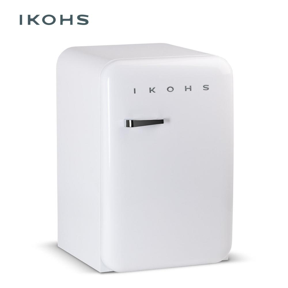 IKOHS RETRO White Refrigerator83 5L Small Storage Refrigerator Classic Style Freezer Temperature Control Silent And Ideal Ideal
