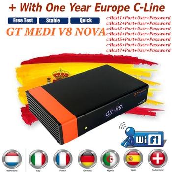 GTMedia V8 Nova DVB-S2 FTA Satellite Receiver Full HD Support IKS Decoder Europe Cccams Cline and  Built-in WiFi