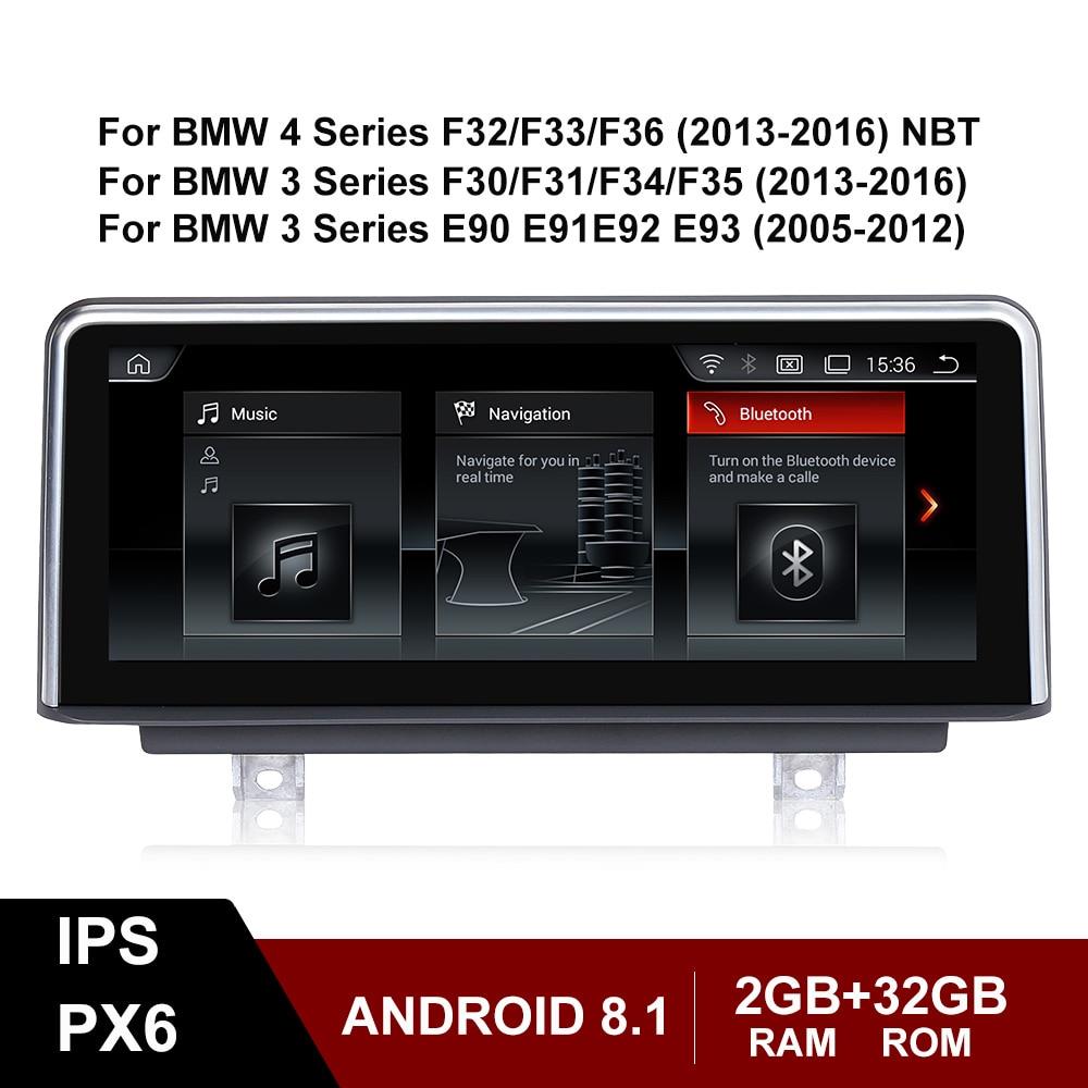 Android 8,1 IPS экран Автомобильный мультимедийный стерео для BMW 3 4 серии F30 F31 F34 F35 E90 E91 E92 E93 GPS Bluetooth навигация WIFI парковка