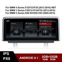 Android 8,1 ips экран Автомобильный мультимедийный стерео для BMW 3 4 серии F30 F31 F34 F35 E90 E91 E92 E93 gps Bluetooth навигация WI FI парковки