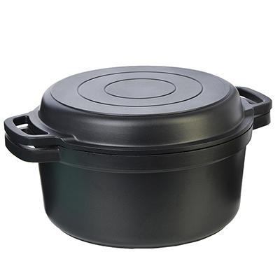 Casserole en fonte cuisine bar à manger ustensiles de cuisine couverts friteuse cuisinière cuisson friture acier inoxydable antiadhésif 846-382,846-383