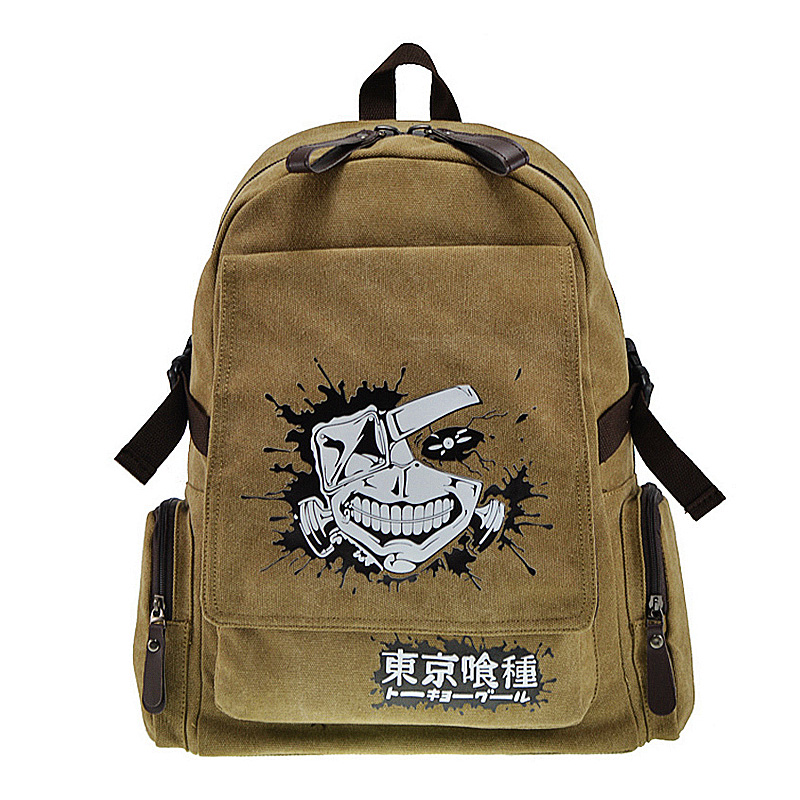 New Tokyo Ghoul Backpack Teenager Preppy School Bag Wholesale Anime Children Schoolbag Boys Girls Daypack with front flap pocket