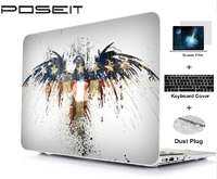 """keyboard plastic case Plastic Hard Case Cover Laptop Shell Keyboard Cover For Macbook Air11 13 Pro Retina Touch Bar 12 13 15"""" Screen Film Dust Plug (1)"""