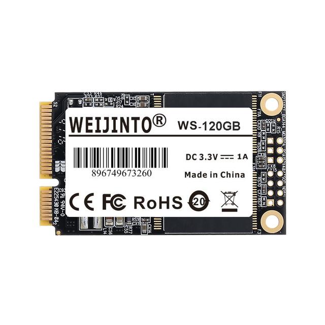 WEIJINTO mSATA SSD 120GB 128GB 240GB 256GB 60GB 64GB Mini SATA Solid State Drive 32GB 16GB Module For Desktop Laptop Server