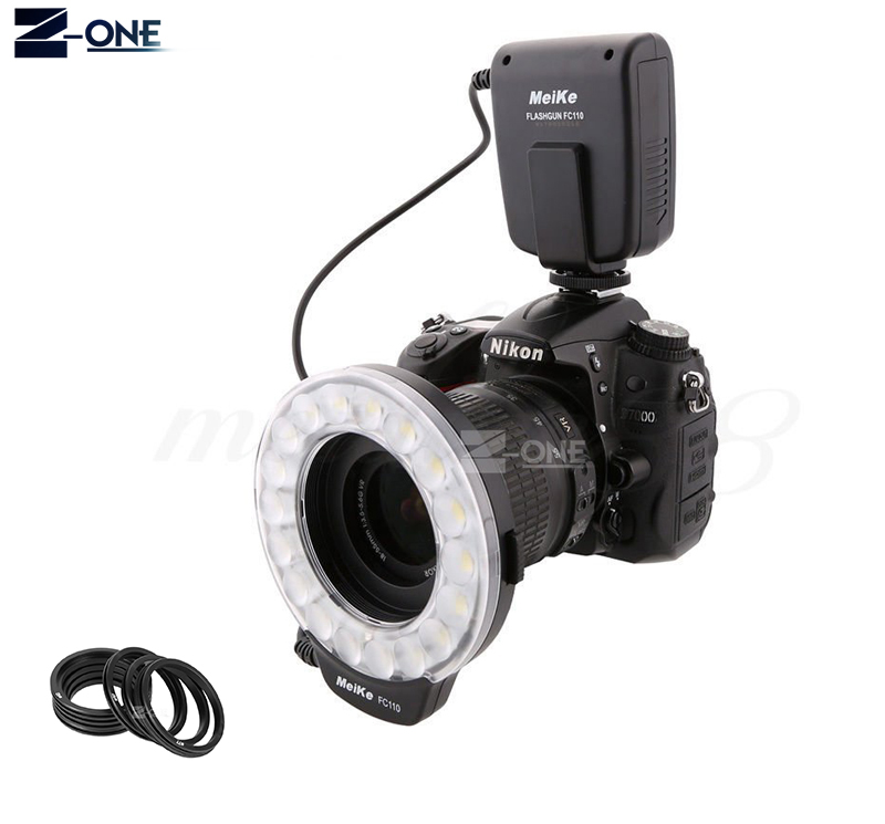 Meike FC-110 FC110 LED Macro Ring Flash Light for Nikon D850 D810 D800 D750 D7500 D7200 D7100 D5 D500 D3400 D3300 D5600 D5500 meike auto focus macro extension tube set ring n af1 b for nikon d7500 d7200 d5600 d5500 d5300 d3400 d3300 d850 d810a d750 d5 d4