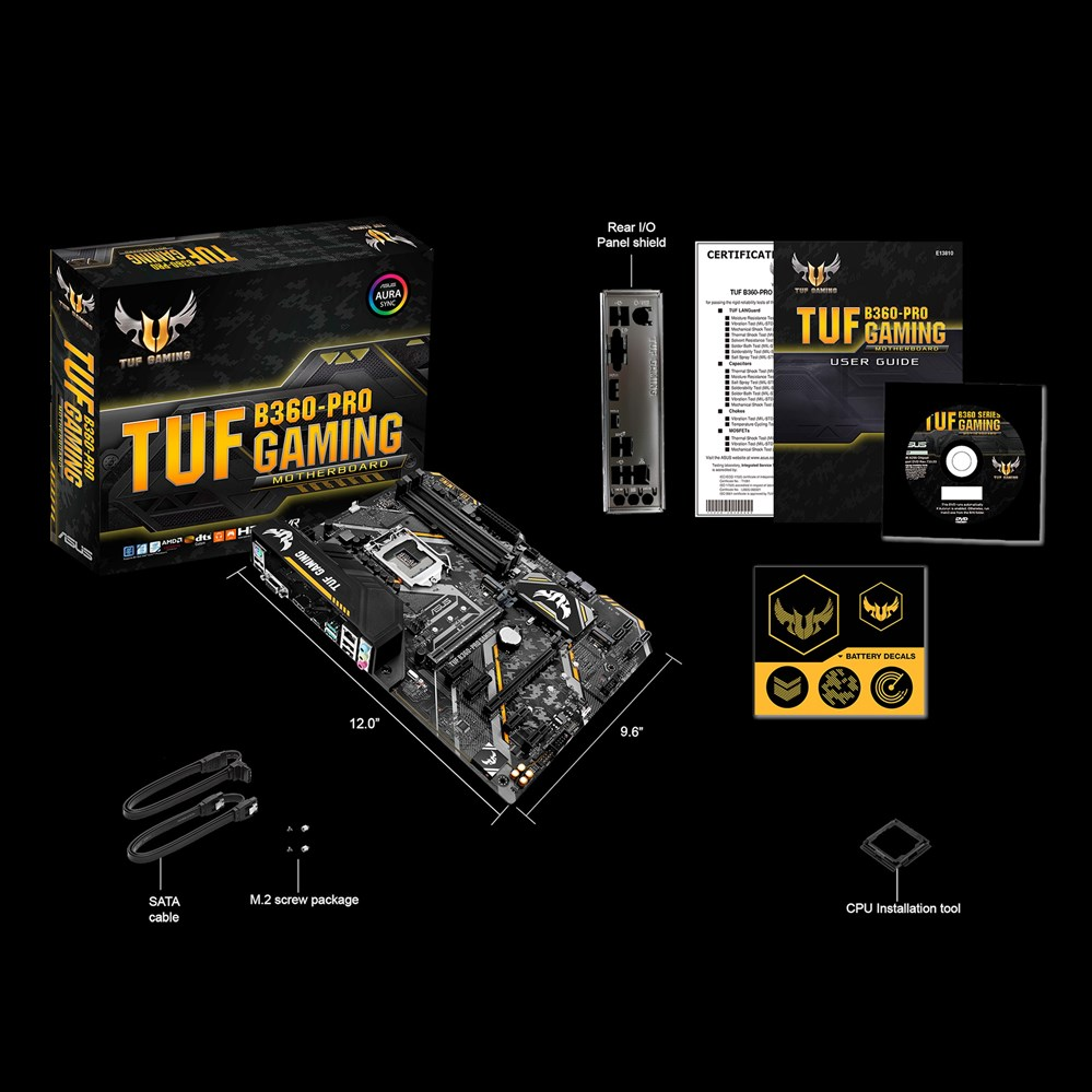 US $357 46 |ASUS TUF B360 PRO GAMING, DDR4 SDRAM, DIMM, 2133,2400,2666 MHz,  Dual, 64 GB, Intel-in Memory Cards from Computer & Office on