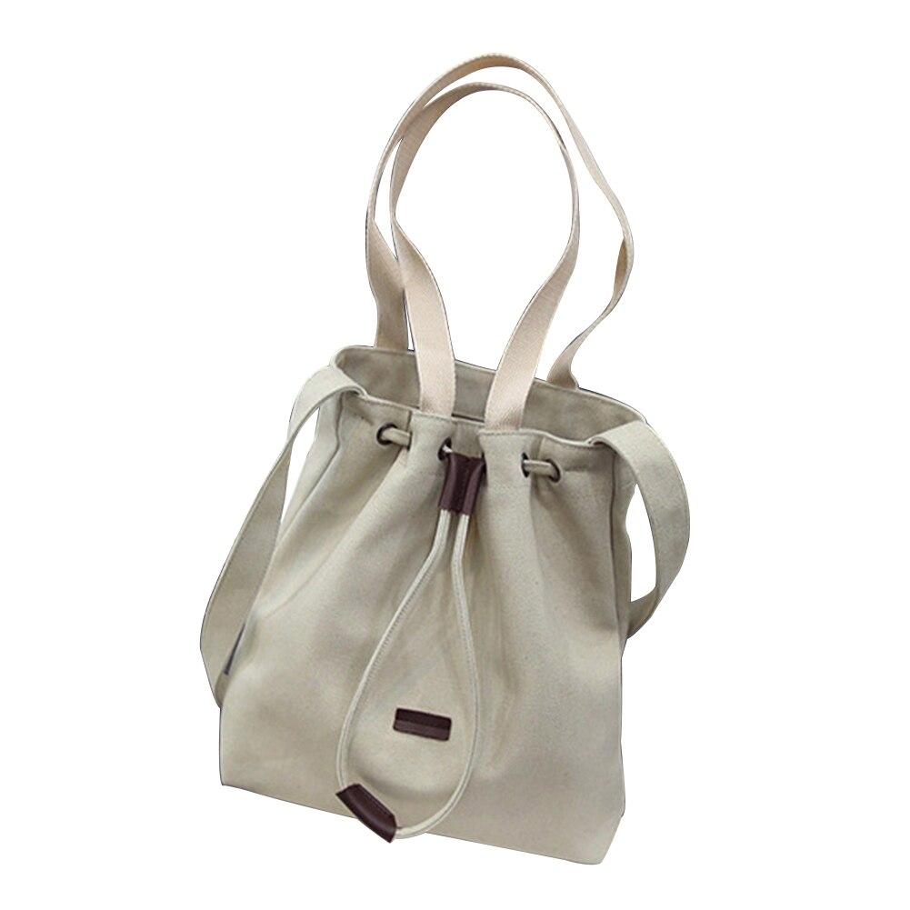 Для женщин Простой Холст Большая сумка через плечо Рисования Авоську