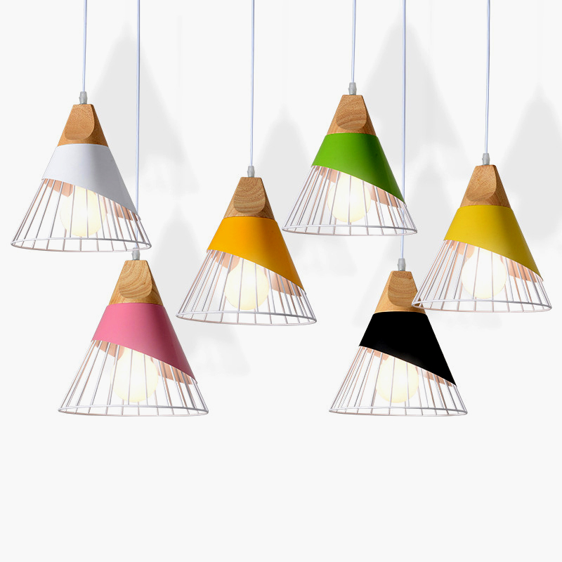 Modern personality E27 LED pendant lights black and white color hanging lamps for bedroom kitchen living room restaurant store|Pendant Lights| |  - title=