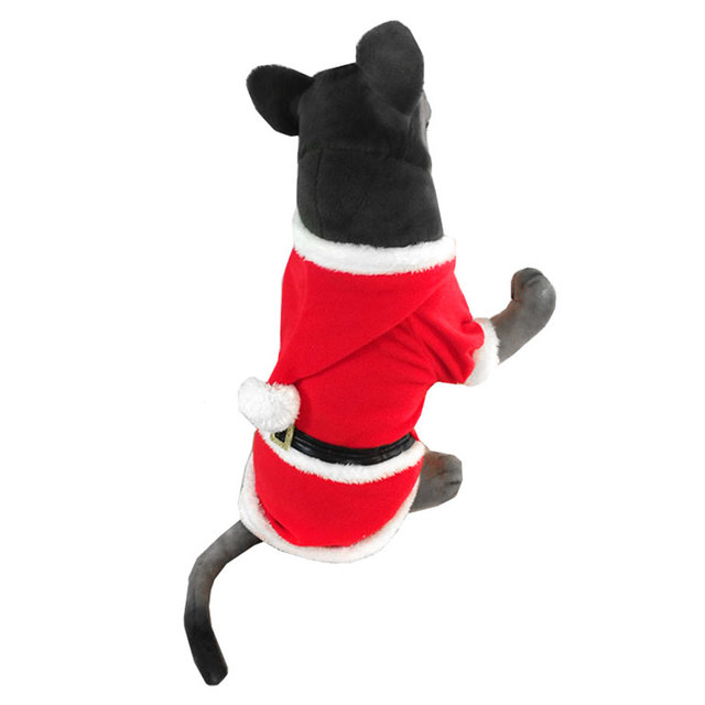 Christmas Dog Costumes Santa Claus Suit Fleece Medium Large Dog