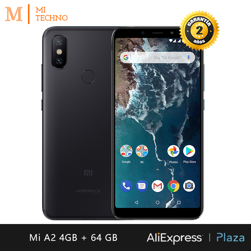 [Global Version] Xiaomi Mi A2 Smartphone 5.99 FHD +(RAM 4GB + ROM 64GB, Dual SIM, Dual Camera 12 + 20 MP, Android One *)