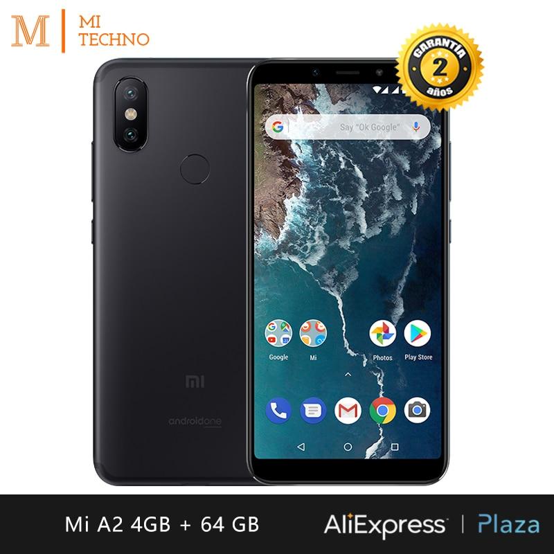 "[Global Version] Xiaomi Mi A2 Smartphone 5.99 ""FHD +(RAM 4GB + ROM 64GB, Dual SIM, Dual Camera 12 + 20 MP, Android One *)"