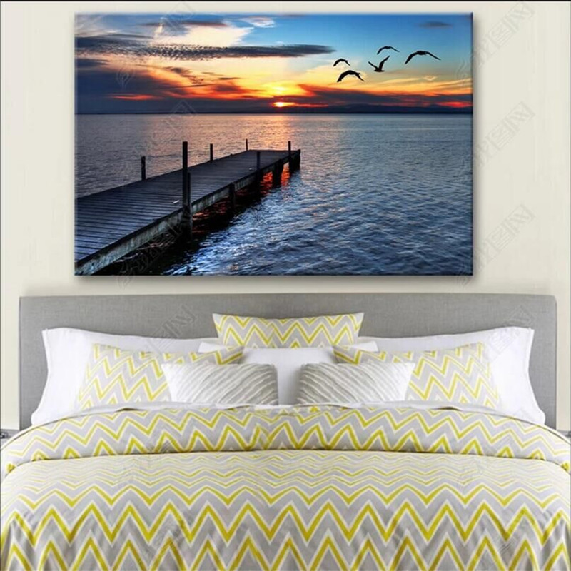 Fisherman\'s Wharf romantic evening dusk scenery professional production wallpaper mural custom photo wall