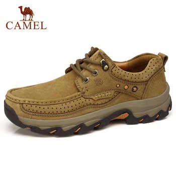 CAMEL Cushioning Men Shoes Matte Genuine Leather Casual Shoes Comfort Wear-resistant Non-slip Scrub Outdoor Leather Shoes Men - DISCOUNT ITEM  20% OFF All Category