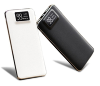 20000mah Power Bank External Battery Quick Charge Dual USB LCD Powerbank Portable Mobile Phone Charger For