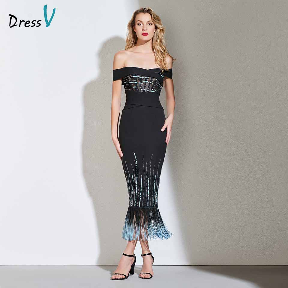 Dressv beading cocktail dress elegant off the shoulder zipper up wedding party evening formal dress coctail dresses cutomade