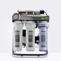 Hot Selling 7 Stage Household Reverse Osmosis System 50GPD with stand ,UV and pressure gauge/220V/Europe Two pin plug