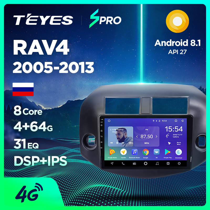 TEYES SPRO car dvd gps player For multimedia Toyota RAV4 2005-13 car dvd navigation radio video audio player no car 2 din