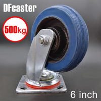 Super Rubber 500kg Heavy Load 6 Inch Casters 360 Degree Caster Carrying Wheel Universal Castor Double