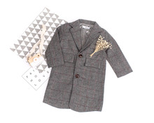 British Style Children Autumn Winter Plaid Coat Boys Suits Fashion Elegant Kids Outwear Thick