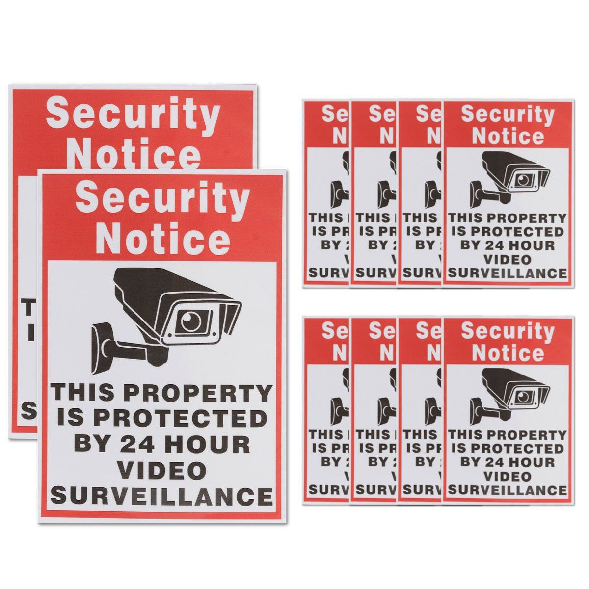 NEW 10pcs/lot Waterproof Sunscreen PVC Home CCTV Video Surveillance Security Camera Alarm Sticker Warning Decal Signs 10pcs lot 200 250mm yellow and black decal sticker warning board 24hr cctv surveillance security camera sticker decal signs