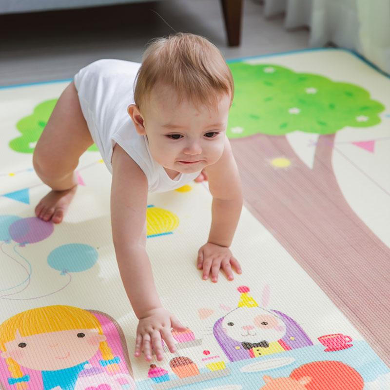 Tapis de jeu bébé 200*180*0.5 cm tapis rampant Double Surface tapis de bébé tapis de développement Animal tapis pour enfants tapis de jeu 005