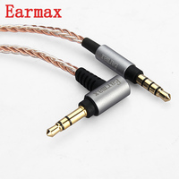 Earmax 3 5mm Headphone Cable OCC Silver Plating HIFI Audio Cable Replacement For MUC S12SM1 MDR
