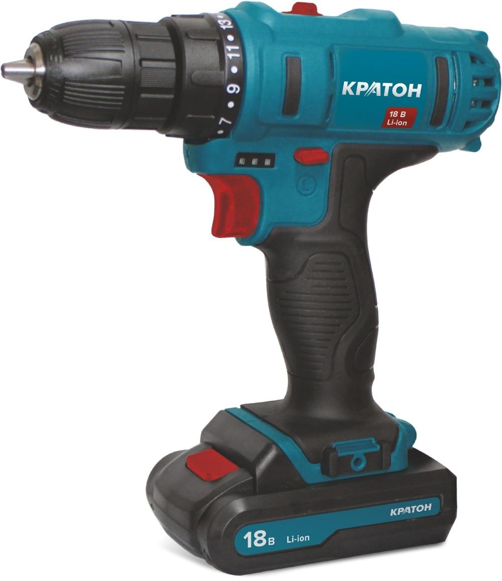 цена Drill-screwdriver rechargeable KRATON CD-18-Li-2,0 онлайн в 2017 году