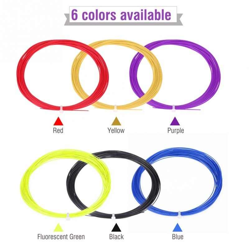 20-26lbs Nylon Badminton Racket Replacement String Professional Light Graphite Racquet With String 0.7MM*10M For Adult