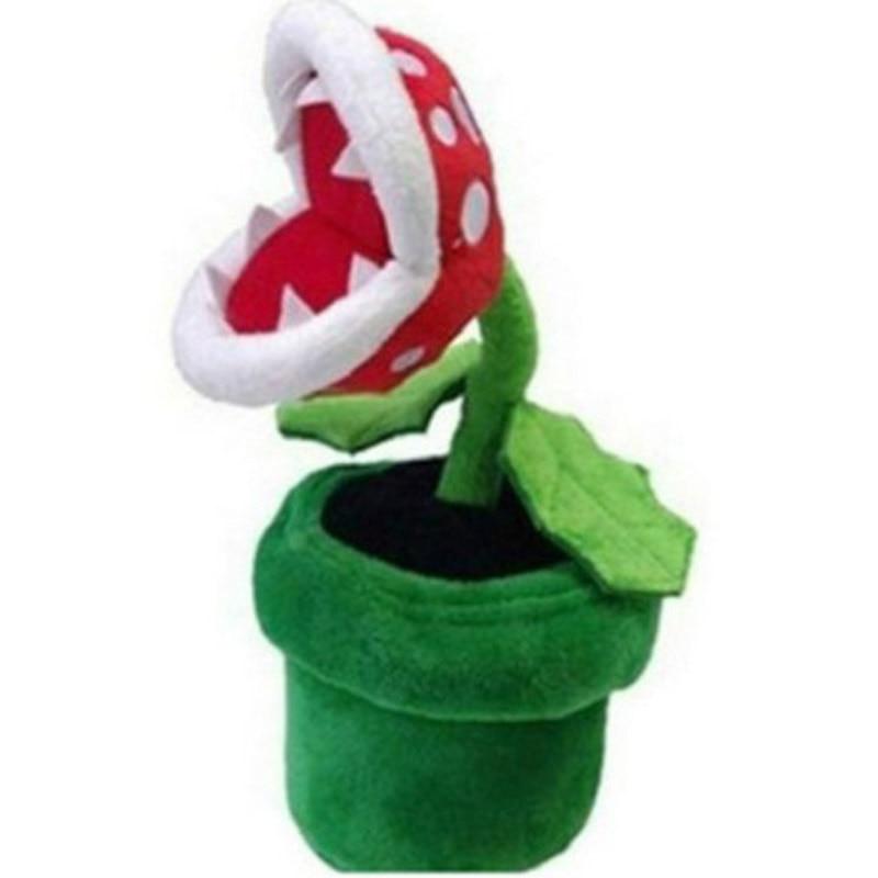 Super Mario Plush Piranha Plant Mario Plush 22CM Anime Toys Soft Toys For Kids Peluche Mario Stuffed Toy Kids Gift Free Shipping