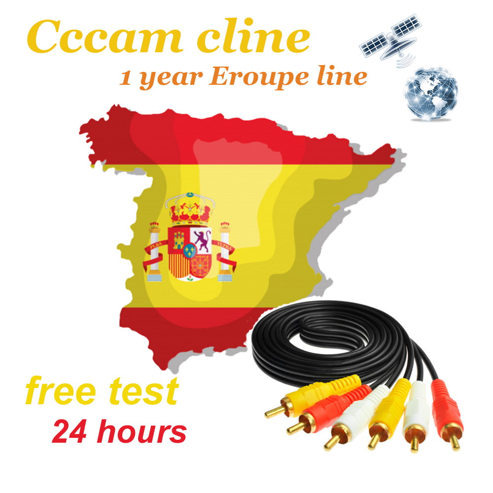2019 Cccam Cline For 1 Year 7 Lines Europe Support DVB-S2 Satellite TV Receiver GT MEDIA V8 NOVA Cccam Server Spain Free Test