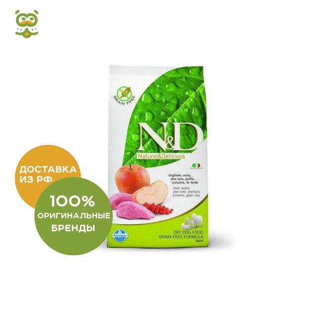 N&D Dog Boar & Apple Adult Mini корм для взрослых собак мелких пород, Кабан и яблоко, 7 кг.
