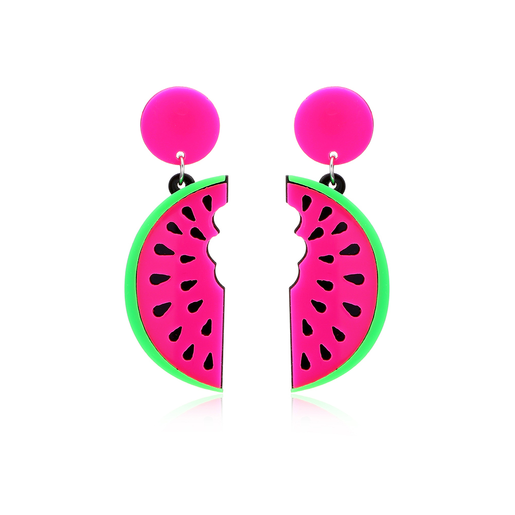 2017 Watermelon Dangle Earrings Fashion Party Summer Beach Jewelry Gift for Women