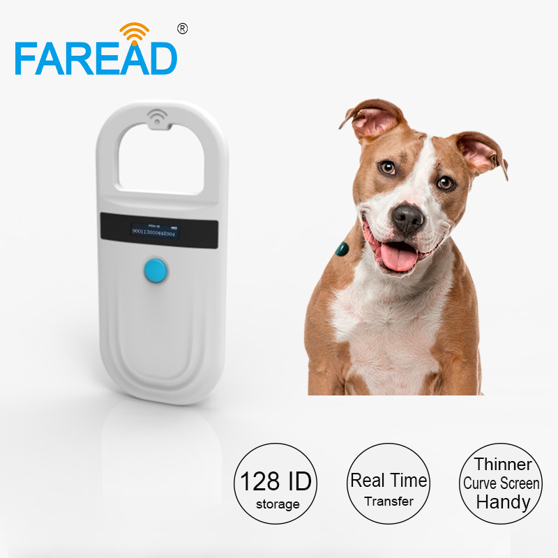 Free Shipping 134.2khz RFID Microchip Scanner Reader For Dog Cat Horse Animal FDX-B Data Storage