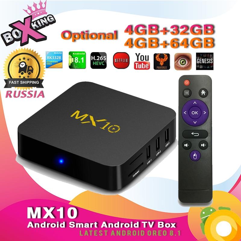 tv box android 8.1 4gb 64 gb xiaomi  Latest MX10 4GB 32GB / 4GB 64GB tv box Android 8.1 smart tv box Set ...