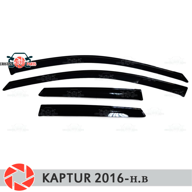 Window deflector for Renault Kaptur 2016- rain deflector dirt protection car styling decoration accessories molding original view window flip pu leather case cover for uhappy up920