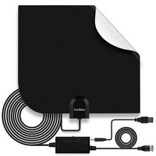 Leelbox Indoor HD Signal Amplifier Digital TV Antenna HDTV 4K 80 Miles Range 25DB For VHF UHF HDTV Antenna TV Signal Receiver newest hd tv antennas ta 105a indoor digital hd tv antenna amplifier uhf vhf 1080p 4k with stand