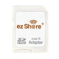 משלוח חינם! החדש לבן Ezshare micro sd wifi מתאם תמיכה 8 גרם 16 גרם 32 גרם זיכרון כרטיס TF MicroSD מתאם WiFi SD כרטיס
