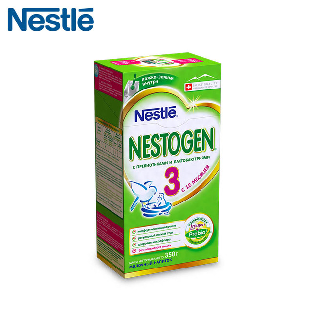Детская Смесь NESTOGEN 3 (Nestle) с 12 месяцев 350г