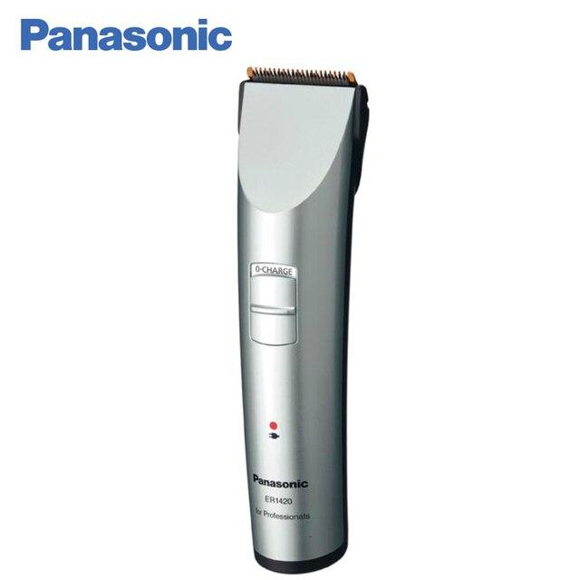 Panasonic ER1420S520 Профессиональная машинка для стрижки волос, 3 насадки, Скорость электродвигателя 7000 об./мин. Керамические лезвия с титановым покрытием, 80 минут непрерывной работы от аккумулятора