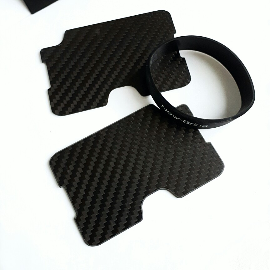 Carbon Fiber Card Holder Mini Slim Waterproof Credit Card With Money Cash Clip Case  Business ID Card Holder Cover photo review