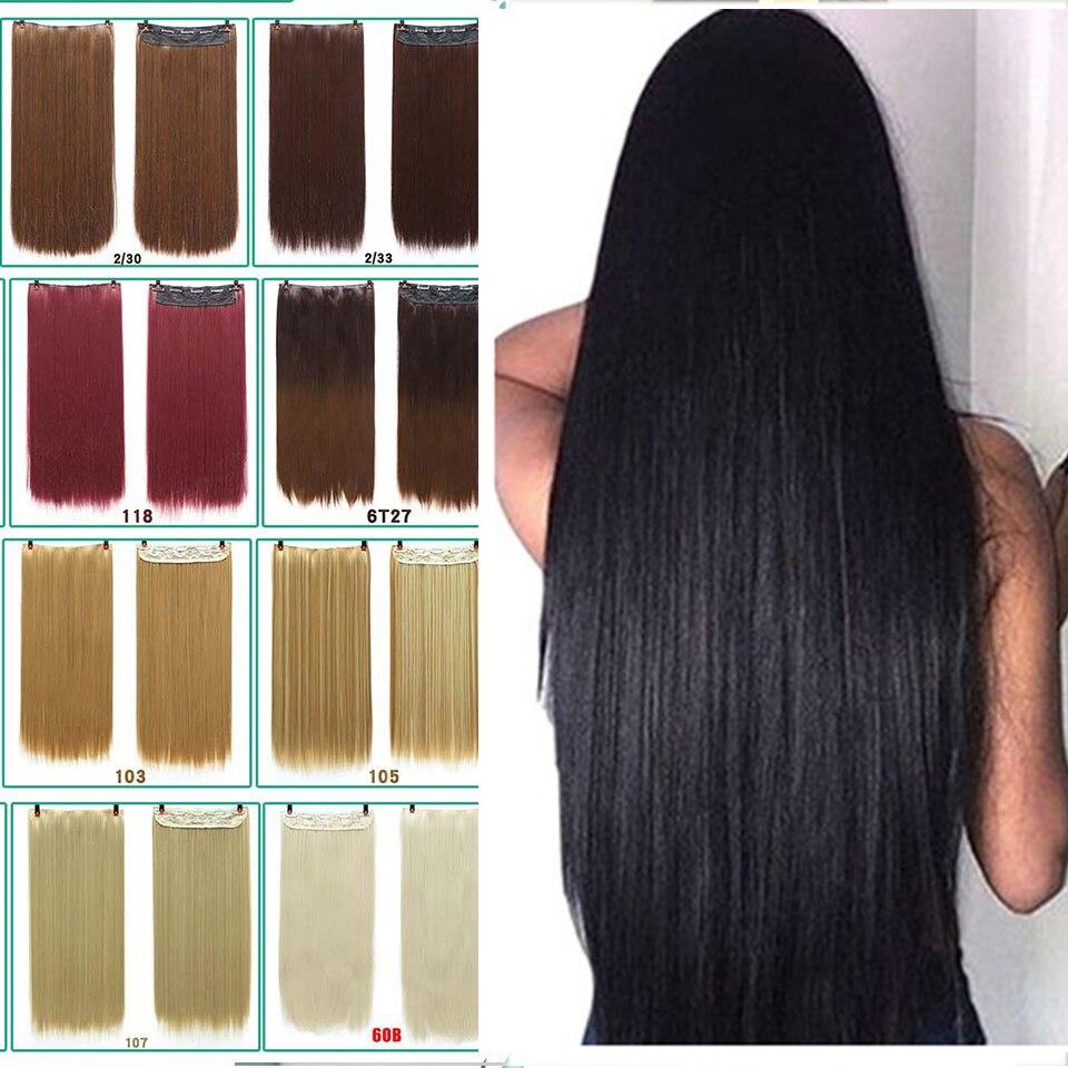 DIFEI 24-дюймовая прямая Накладка для волос, Женская высокотемпературная волокнистая Накладка для наращивания волос, зажим для наращивания во...